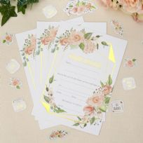 Geo Floral Wedding Invitations (10)